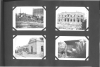 "Photo Album Page 4, Photos - Text from opposite page:-1932 HOUSING PROGRAM ""These views lead one to appreciate the truth in the adage ""The palace of the rich is built on the hovel of the poor.""  ""View No. 2 (b) The palatial Dodge Estate under construction.  This beautiful mansion, surrounded by private gardens and parks, and overlooking the waters of Lake St. Clair, illustrates what is possible if one belongs to the exclusive family of American Capitalists.""  ""View No. 1. (a)   This shack, being built of scrap lumber and sheet iron, will, when completed, ""house"" from eighteen to twenty unemloyed workers.""  ""View No. 4. (d)  The ""home"" of an unemployed Dodge worker under construction.  These men, as employees of the Dodge Brothers Motor Corporation, created the wealth that enables the Dodge family to live in luxury and dissipation, while they, who's labor created the wealth, live in hovels.  Their ""home"" is constructed by digging a hole about three feet in the ground and then turning the discarded truck body over the hole.  ""View No. 3. (c) The twelve-car garage of the Dodge Estate under construction.  Here we see the striking difference between the exploiter and his twelve-car marble garage and the exploited Dodge worker in his dump-truck hovel."