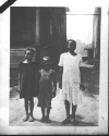 "Photo Album, p. 9, Photo A ""SOCIAL SUICIDE""  ""These views depict a few of the chldren who live in the back alley of our civilization.  Their jovial smiles at being photographed reflects their innocence of what lies aheld in their struggle for existence.""-- Walter and Victor Reuther"