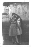 "Photo Album, p. 17, Photo A ""SISTERS IN VICE"" ""Two sister prostitutes who were found working the side streets off Hastings Street... The cringing hand of vice reaches into the cradle of poverty for its victims.""-- Walter and Victor Reuther"