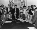 Signing of the 1955 UAW-Ford Contract - circa 1955