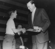 "Walter Reuther receives award from the Boy Scouts.""ca. 1956"""