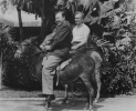 Walter P. Reuther, president of the United Auto Workers, found the native Puerto Rican mode of transport not quite as comfortable as modern motor cars when he rode a burro at the El Barranquitas Hotel in Puerto Rico recently.  Reuther's companion is James B. Carey, president of the International Union of Electrical Workers.  Union officials and their wives made an overnight visit to the hotel in Barranquintas, Puerto Rico, during the week-long AFL-CIO Executive Council meeting in San Juan.  1959