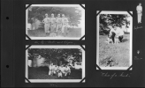 "Photo Album28-Baseball Team, Lu, Ty, Babe, and Rogers""-""Us""-""Three of a kind"""