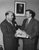 "Walter Reuther with President of Greek Labor Movement.""Spring 1953"