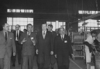 "Getting a first-hand look at how cars are made in Japan.-Isuzu Auto Plant, Fujisawa.""November 17, 1962"