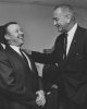 L-R-Walter Reuther, President of UAW and President Lydon B. Johnson circa 1965
