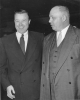 Walter P. Reuther with George Meany, 1955.  This is most likely at the AFL and CIO merger convention.