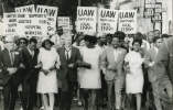 UAW supports Local 1199 - Walter Reuther with hospital nurses on strike in Charleston, South Carolina, 1969.