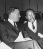 Walter Reuther and Martin Luther King at a tribute to Aretha Franklin in Detroit, 1966.