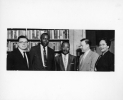 (left to right) Roy Reuther, Horace Steffield, Martin Luther King, Walter P Reuther, Lillian Hatcher circa October 1957