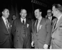 "Left to Right:  Emil Mazey, George Meany, Walter P. Reuther, Victor Reuther, and John W. Livingston at the UAW-CIO Convention in Cleveland.""1955"