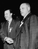 "Walter P. Reuther and George Meany at the UAW-CIO Cleveland Convention.""1955"