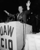 Walter Reuther speaking at the 1955 UAW-CIO Convention in Cleveland, Ohio, 1955.  This was the last CIO convention before the merger with the AFL.