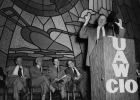 Walter Reuther speaking at the UAW Educational Conference in Cleveland, Ohio.  1952