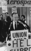 Walter Reuther speaking at an IAM meeting in 1968.""