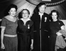 "Left to Right:  May Reuther, Mrs. Hillman, Eleanor Roosevelt and ???.  At the 1954 UAW-CIO Convention in L.A.""December 13, 1954"