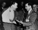 "Walter Reuther and James Carey, IUE.""ca. 1950"