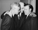 "Walter Reuther with James Carey and Rep. John McCormick at the AFL-CIO IUD Dinner for Members of Congress on April 13, 1962.""April 13, 1962"