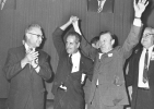 "Walter Reuther celebrating at the UAW 26th Biennial Convention in Denver.""September 24, 1968"