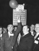 Walter Reuther celebrating a victory at the UAW 17th Constitutional Convention in Atlantic City N.J. Oct 9-16, 1959