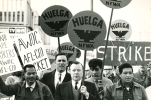 Larry Itlong, Walter Reuther, Cesar Chavez