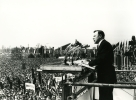 "Walter Reuther speaking at a May Day Rally in Berlin.""May 1, 1959"""