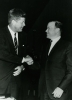 President John F. Kennedy with Walter P. Reuther president of UAW at the UAW 17th Constitutional Convention.""