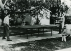 "Roy and Walter Reuther playing ping pong.""ca. 1955"""