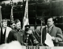"Walter Reuther addressing the crowd at the 1950 Chryser Strike.""March 31, 1950"""