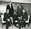 October 23, 1965--Trade Union Leadership Council's A. Philip Randolph Freedom Award Cobo Hall, Detroit, Michigan.  Front (L to R):  Monsignor Kern, Jackie Robinson, Walter Reuther.-Rear (L to R):  Governr G. Mennen  Williams, Bayard Rustin.