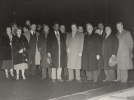 "Walter Reuther posing in group photo of the American delegation to the ICFTU 1st Congress in London.""December 7, 1949"