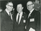 "Roy, Walter and Victor Reuther at the UAW 19th Constitutional Convention.""March 20-27, 1964"""