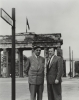 Walter Reuther at the Brandenberg Gate in Berlin.  July 1953  With Conrad Adenhaur (?).
